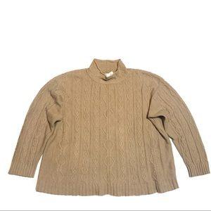 VINTAGE ESCADA Cashmere Blend Cable Knit Pullover